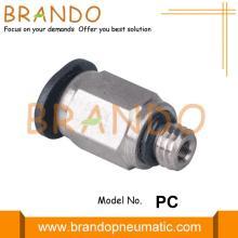 Conexões pneumáticas retas push-in masculinas em miniatura 3 mm 4 mm