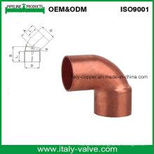 Codo de tubo de cobre de 45 grados (AV8006)