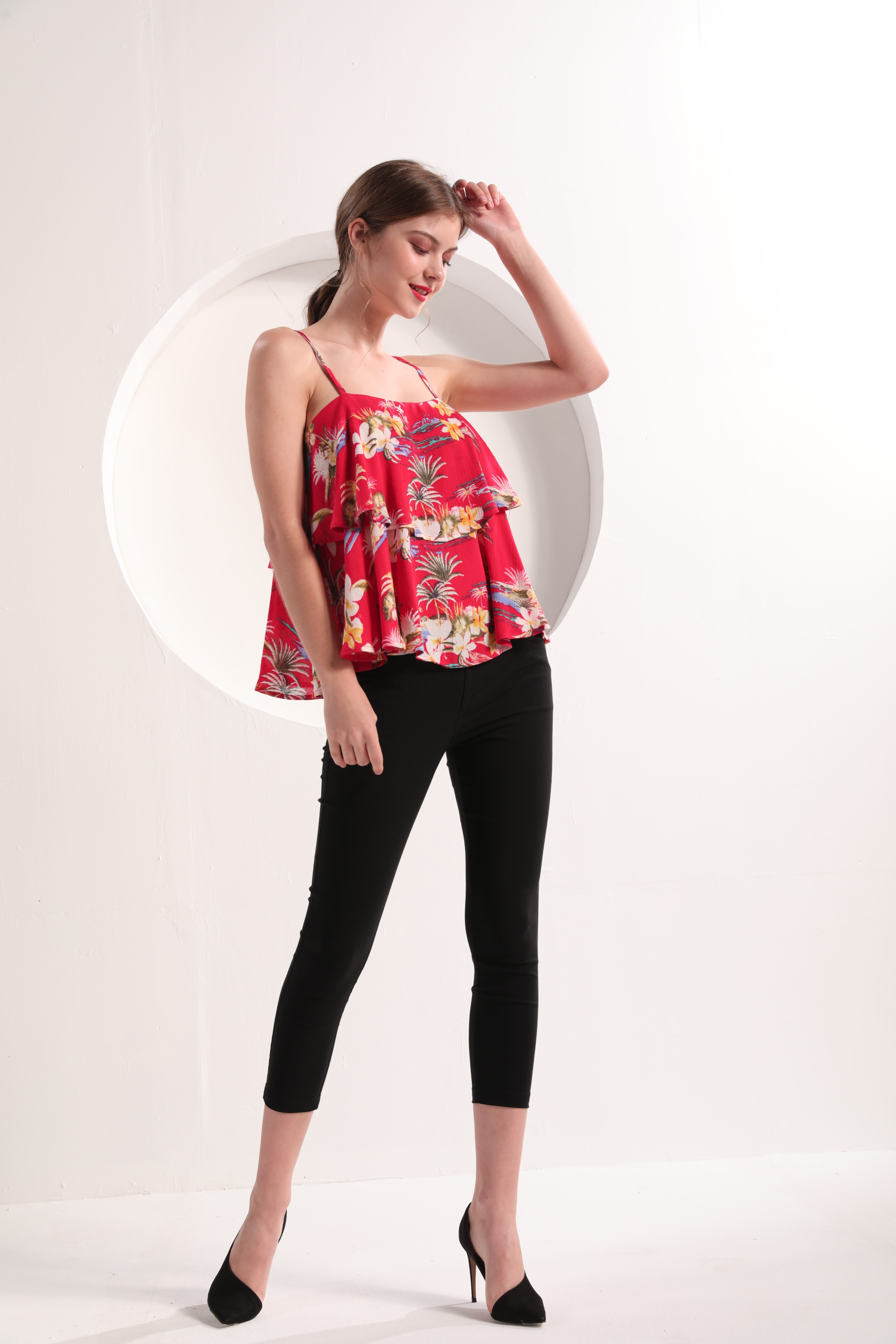 Ladies' Tropical Floral Print Cami