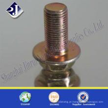 Parafuso de flange hexagonal com zinco