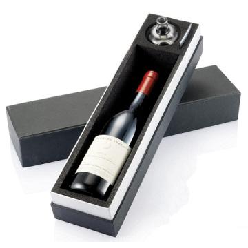 Caixa de embalagem de vinil de papel mate personalizado elegante