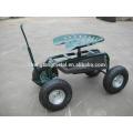 steel garden work seat cart