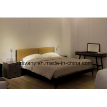 European Style Home Wooden Leather Bed Furniture (A-B40)