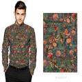 100% Baumwolle Satin gedruckt Digital Custom Shirting Stoff