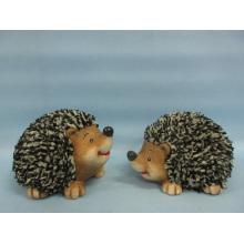 Hedgehog forma de artesanía de cerámica (LOE2532-C13)