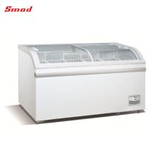 XS-500Y Congelador de cofre de vidrio curvado