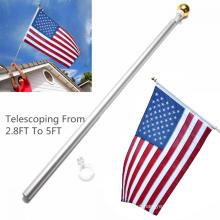 Poste de bandeira telescópico ajustável