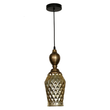 Suspension vintage industrielle en verre simple moderne