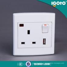 El estándar BRITÁNICO 1gang 13A USB cambió el zócalo con el uso de neón para el hogar