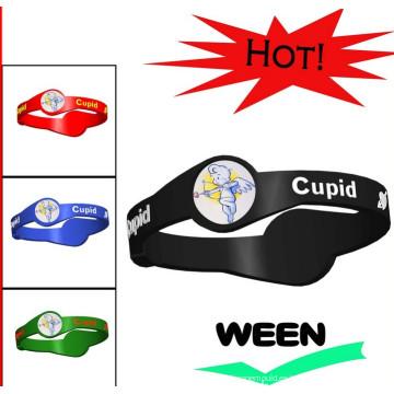 2016 pulseras de goma de silicona de moda pulsera de venta caliente