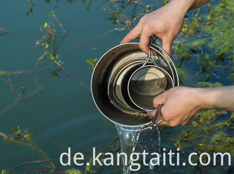 TITANIUM POT WITH PAN