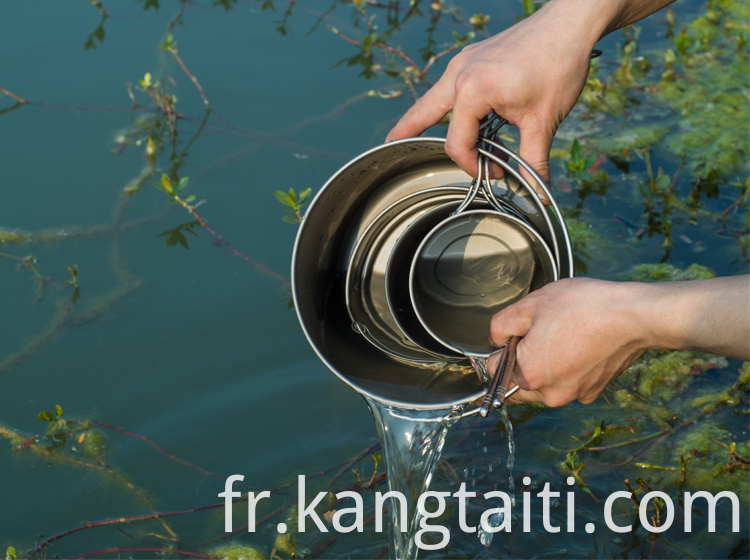 Pure Titanium Outdoor Handing Pot