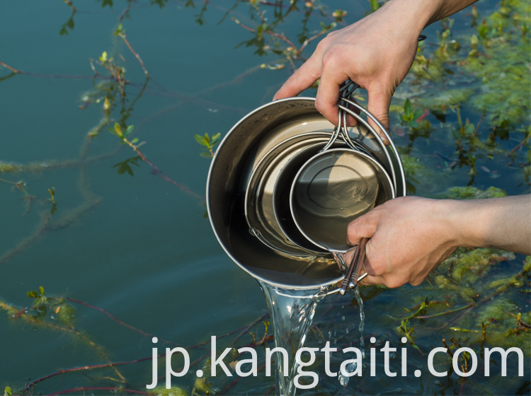 Light Titanium Hanging Pot