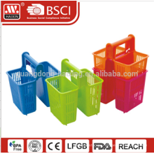 Convenient fancy Plastic customized Cutlery Table Holder with handle