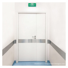 Hospital Interior Patient Room Unequal Double Steel Doors With High Quality