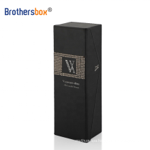 Brothersbox luxury flower slid magnet wine gift packaging box with clear window/fabric Convenient type 6 bottle
