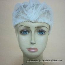 Sujetador no tejido disponible de la mochila del proveedor de los materiales consumibles médicos / casquillo bouffant / redes del pelo