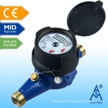 MEDIO medidor de agua certificado Multi Jet IP68 latón