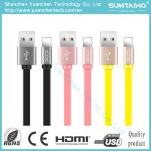 Cable de carga del teléfono del relámpago de la cuerda de los datos del OEM Xo 2.1A para el iPhone 6 iPad