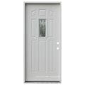 Fangda Modern 8 Panel Steel Frosted Glass Insert Entry Door