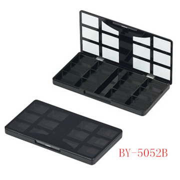 Square 12 Color Black Eyeshadow Container