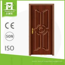 Baixo preço à prova de roubo exterior pvc intensificar a porta de madeira com alta qualidade made in china