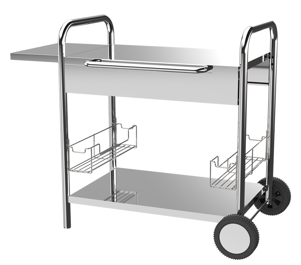 BBQ Metal Plancha Trolley