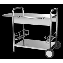 Chariot à plancha en acier inoxydable