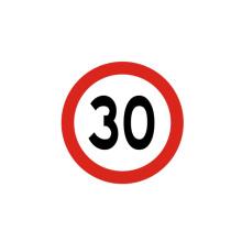 Verkehrszeichen für kreisförmige Geschwindigkeitsbegrenzungen aus Aluminium