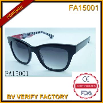 Frame Material de acetato com óculos de lente Polaroid (FA15001)
