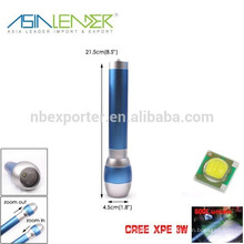 XPE 3W LED 500 Lumen, nuevo diseño de aluminio azul Zoom Linterna