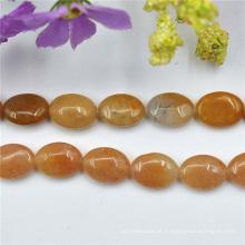 Plano de quartzo oval de Oitrine gemas preciosas 14mm