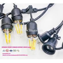 SL-30 gros noël pendentif chaîne décorative lumière E26 lampe prise de courant alternatif cordon avec interrupteur en ligne