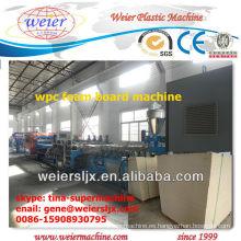 celuka técnica wpc tablero de espuma tablero de plástico de madera que hace la máquina