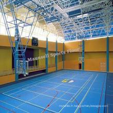Revêtement de sol en plastique de basketball en plastique