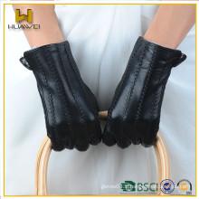 BSCI certifié gants en cuir véritable femme Factory Gants fourrés en peau de mouton en peau de mouton pour dames