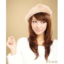 Automne hiver chaud mode femmes vrai vison fourrure fils tricoté chapeaux