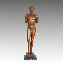 Nude Statue Brokeback Man Bronze Sculpture TPE-580