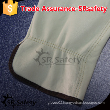 SRSAFETY goat driver leather glove safe working gloves / safety driving warm gloves / goat grain leather gloves,China supplier