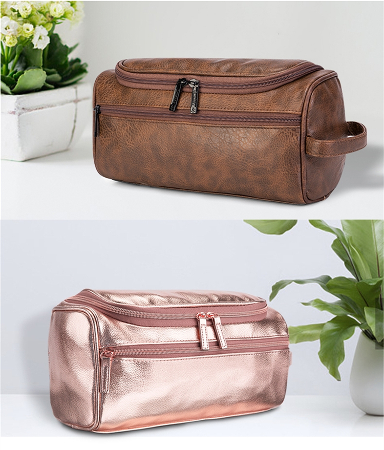 Rose Gold Cosmetic Bag