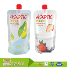 Flexible Packaging Custom Printing Spout Doypack Pouch Drinks Bag Pack For Fruit Juice Beverages