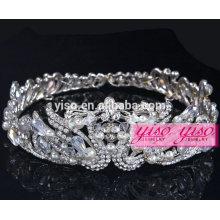 Corona de cristal de la tiara de la boda del día de fiesta del
