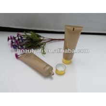 Cosmetic tube with plating screw cap
