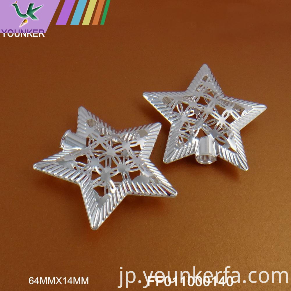 Silver Star Design Hang Ornament