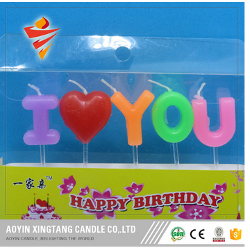 Brev Happy Birthday Candle for Party