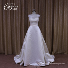 Aline Lace Beaded Satin Wedding Dresses China