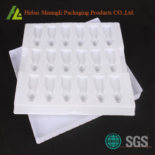 Blister plastic electronic component tray