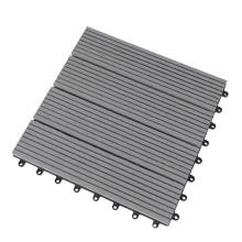 Easy Installation Outdoor Deck Tiles Interlocking WPC Composite Flooring Tiles