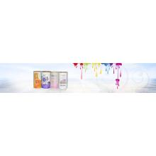 Impresión de etiquetas adhesivas transparentes de alta calidad