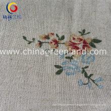 Cotton Linen Woven Printing Fabric for Woman Garment (GLLML131)